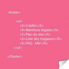 La balise FOOTER en html5