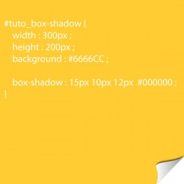 Box-shadow avec CSS3