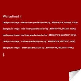 Gradient : dégradés de couleurs en CSS3