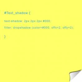 Text-shadow avec CSS3