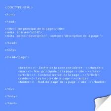 Structure de base d'une page HTML5 : tutoriel  pas à pas et illustré